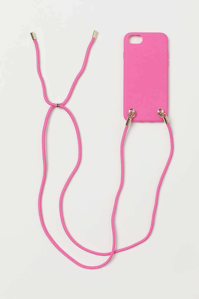 H & M - iPhone 掛繩手機殼 - 粉紅色