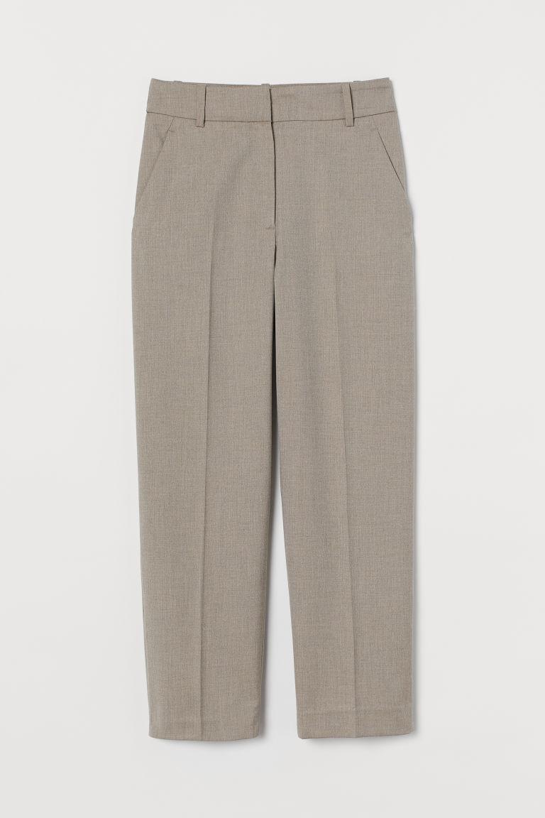 H & M - 煙管褲 - 褐色