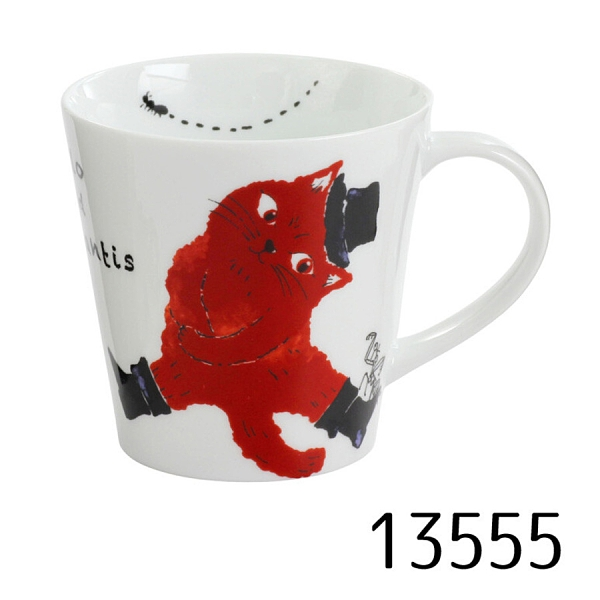 【日本製】Marlo與小夥伴系列 白磁馬克杯  Marlo與螞蟻(一組:3個) SD-6425 - 日本製