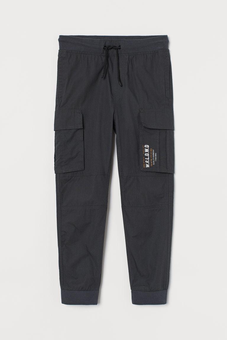 H & M - 工作慢跑褲 - 灰色