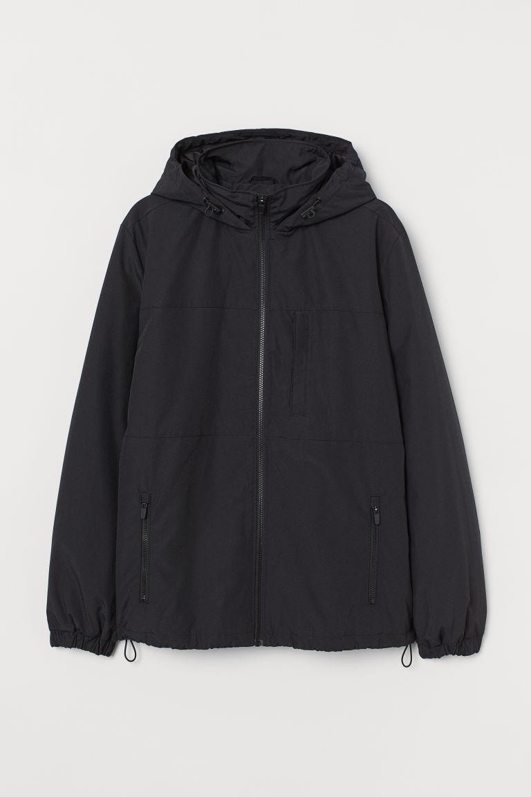 H & M - 連帽外套 - 黑色