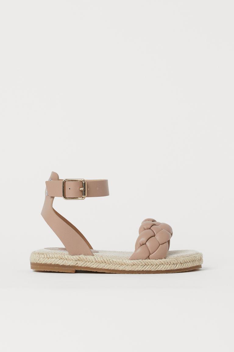 H & M - 草編鞋 - 米黃色