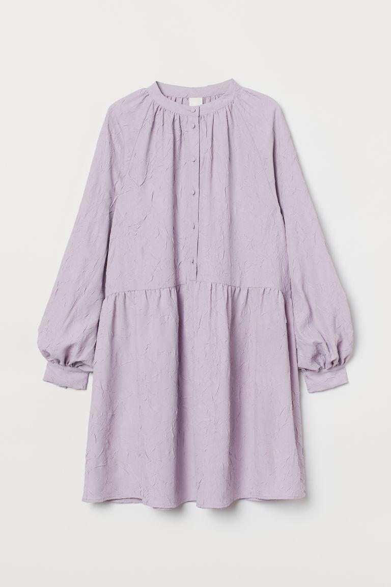 H & M - 長袖洋裝 - 紫色