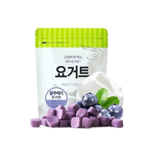韓國米餅村 SSALGWAJA 乳酸菌優格球-藍莓