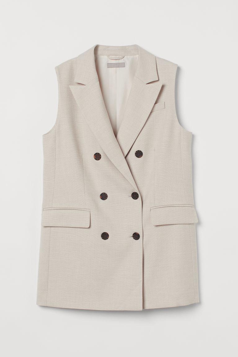 H & M - 無袖外套 - 米黃色