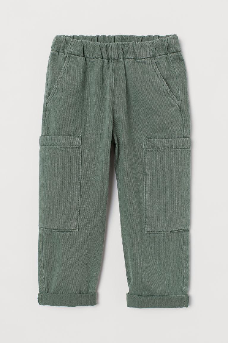 H & M - 萊賽爾混紡工作褲 - 綠色