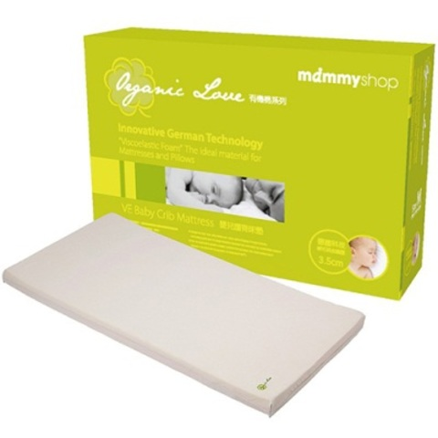 mammyshop 媽咪小站 有機棉嬰兒護脊床墊(3.5cm)-L