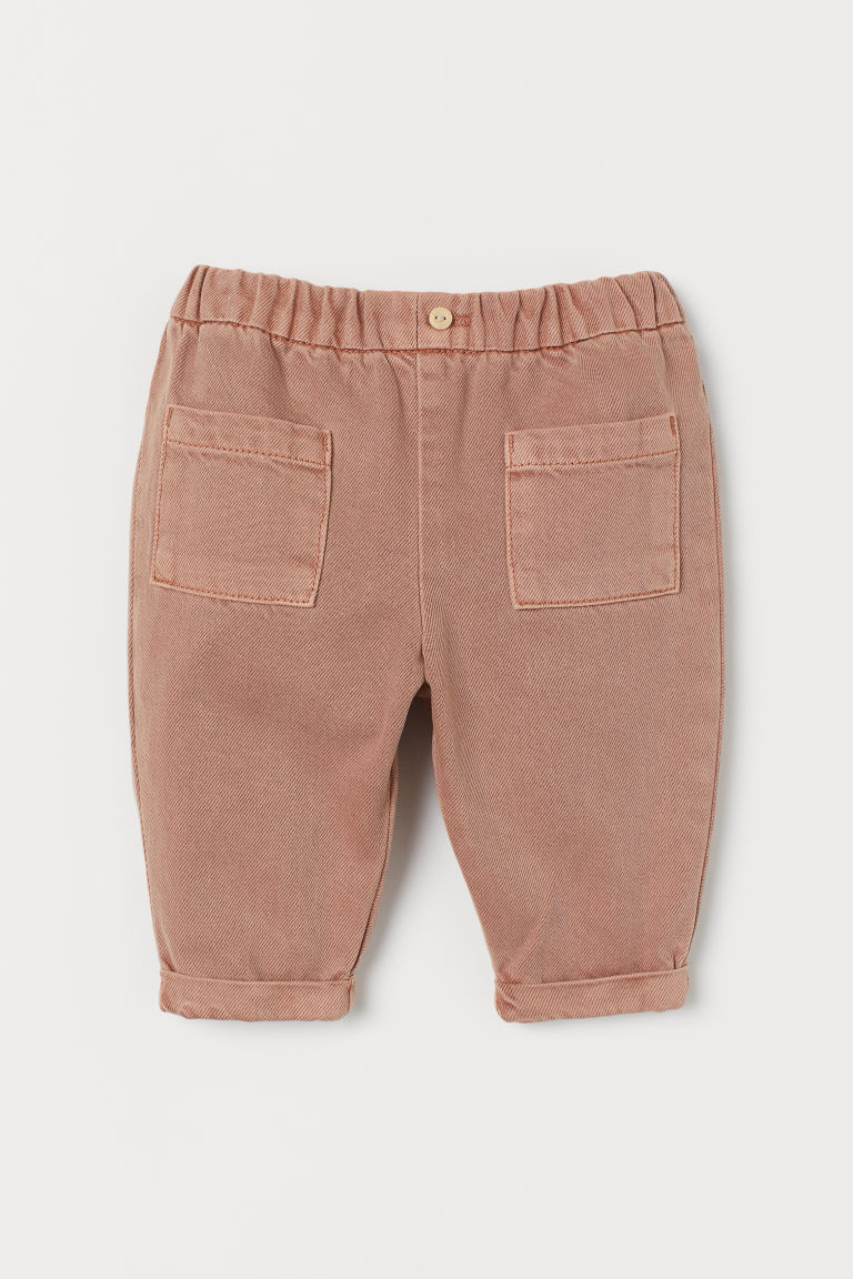 H & M - 萊賽爾混紡長褲 - 橙色
