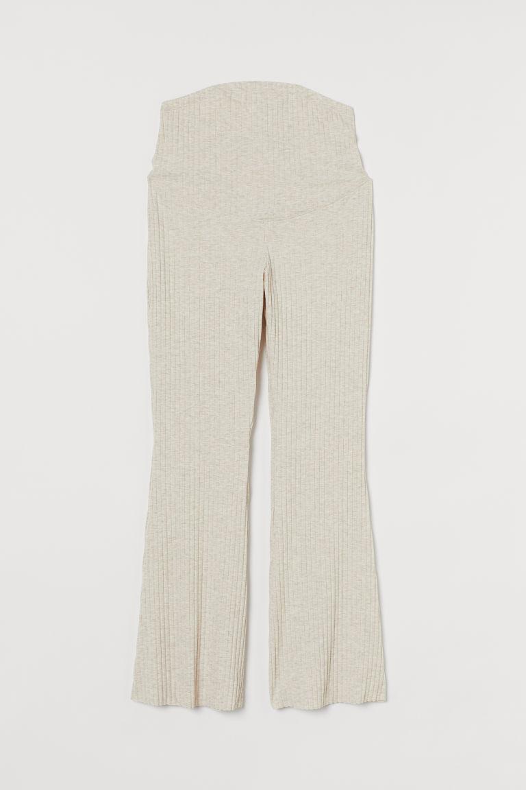 H & M - MAMA 羅紋長褲 - 米黃色
