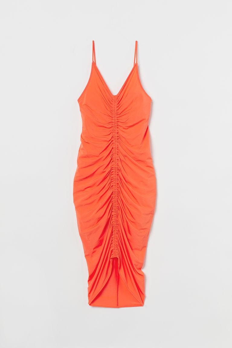 H & M - 垂墜感洋裝 - 橙色
