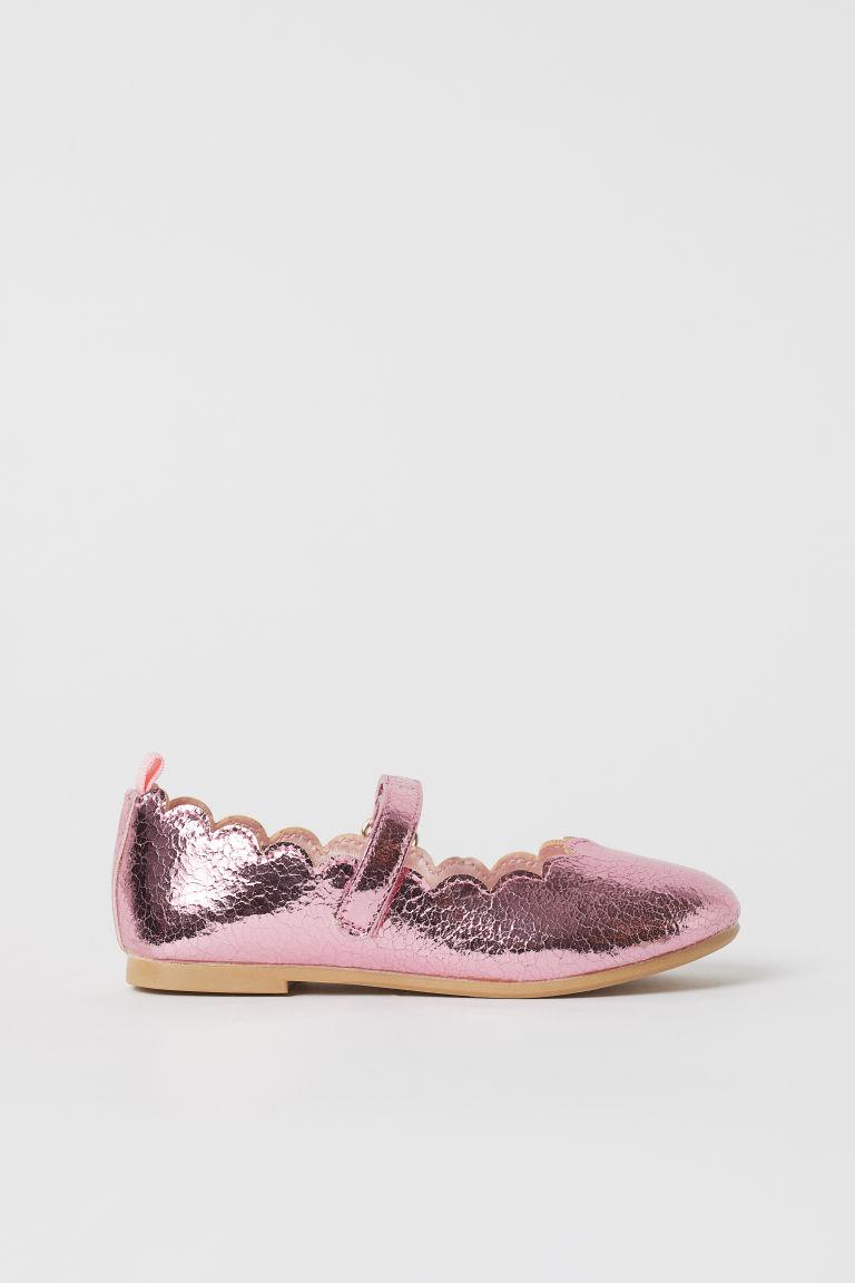 H & M - 亮感芭蕾淺口鞋 - 粉紅色