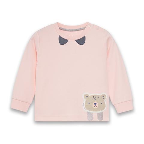 【EASY輕鬆系列】麗嬰房 活力小熊薄長袖上衣-粉色 (73cm~86cm)