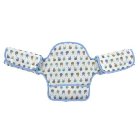 日本 LUCKY 展翅飛翔360度環繞式口水墊(粉藍兔子)