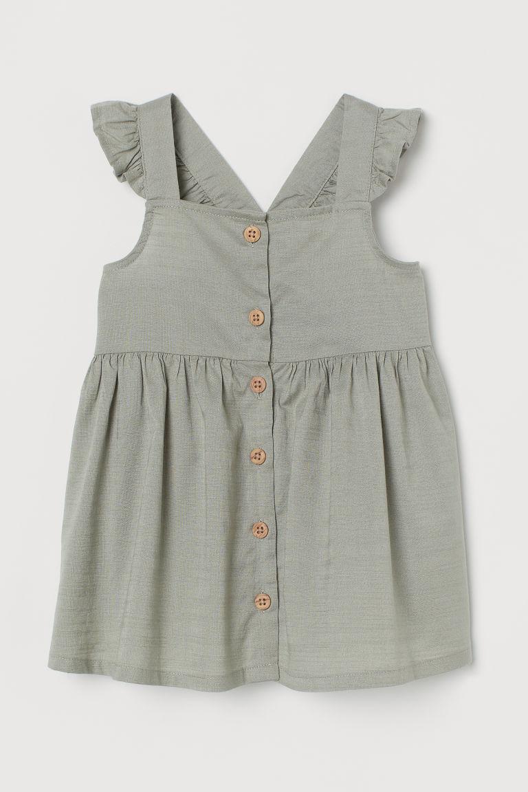 H & M - 棉質洋裝 - 綠色