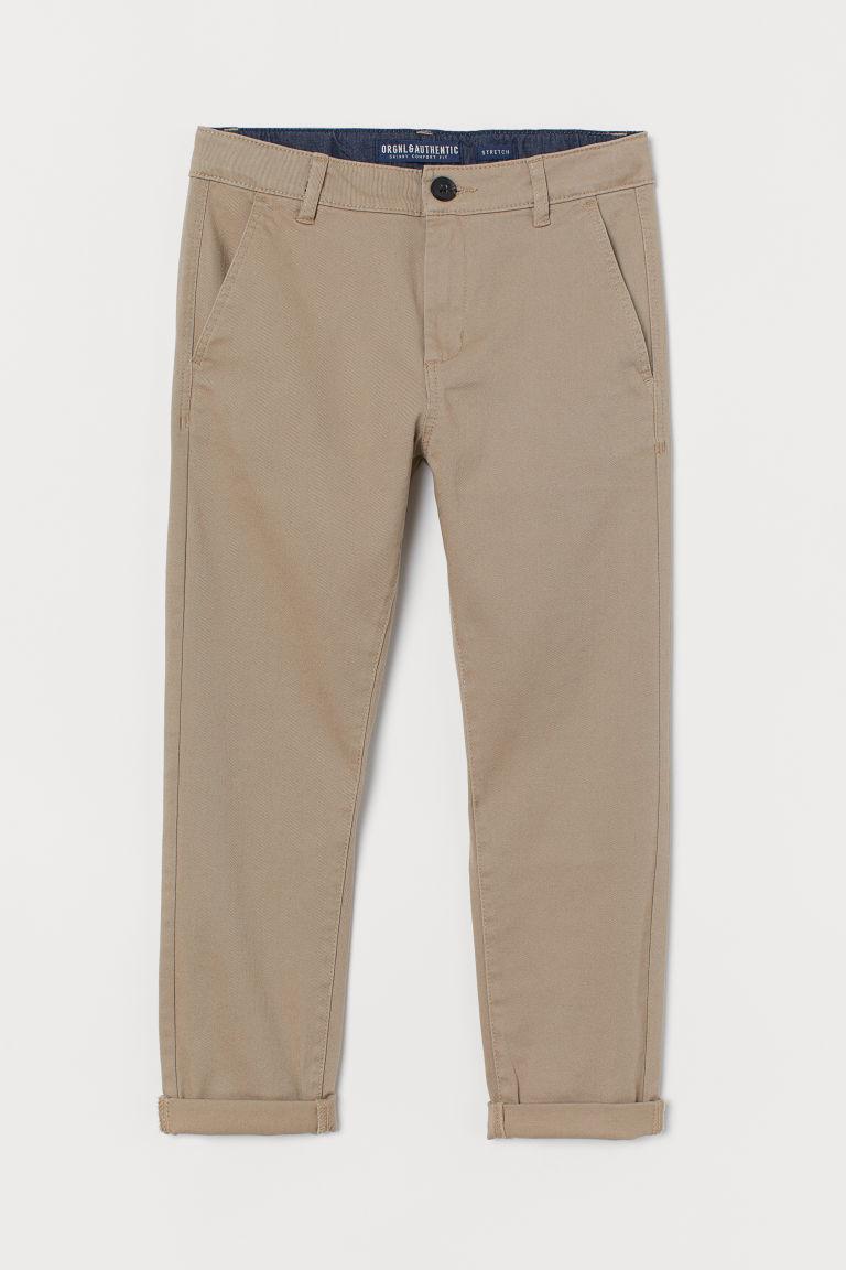 H & M - 貼身卡其褲 - 米黃色