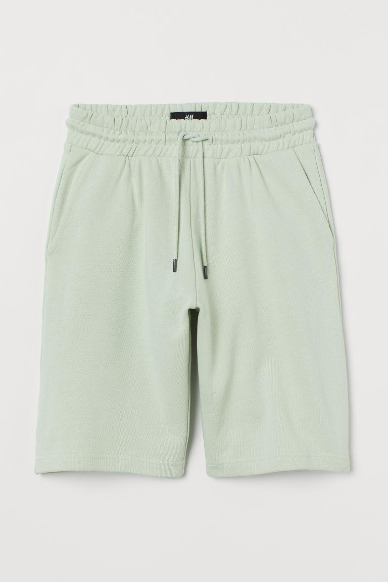 H & M - 合身運動短褲 - 綠色