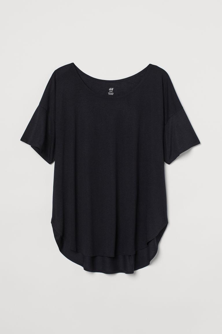 H & M - H & M+ 運動上衣 - 黑色