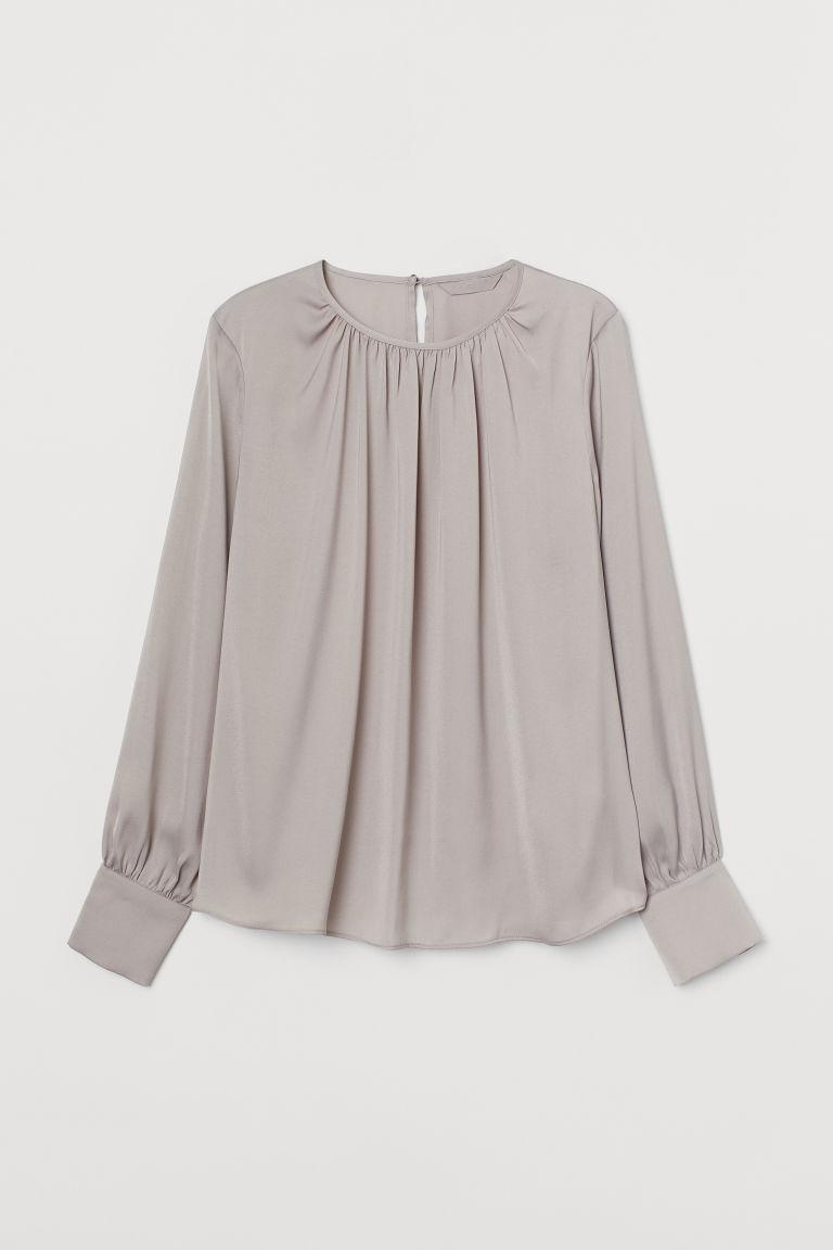H & M - 縐紗女衫 - 褐色