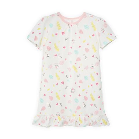 【Cloudy雲柔系列】麗嬰房 女童皇后貓咪短袖連身裙-淺粉 (76cm~130cm)