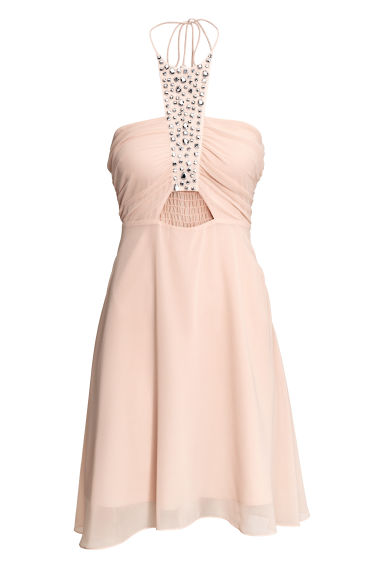 H & M - 繞頸短洋裝 - 橙色