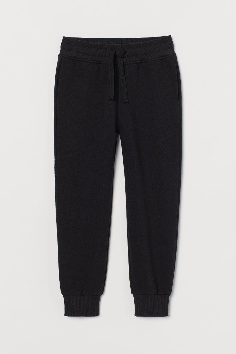 H & M - 刷毛內裡慢跑褲 - 黑色