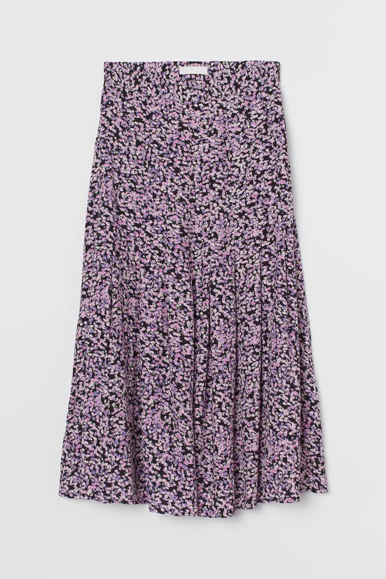H & M - 中長裙 - 藍色