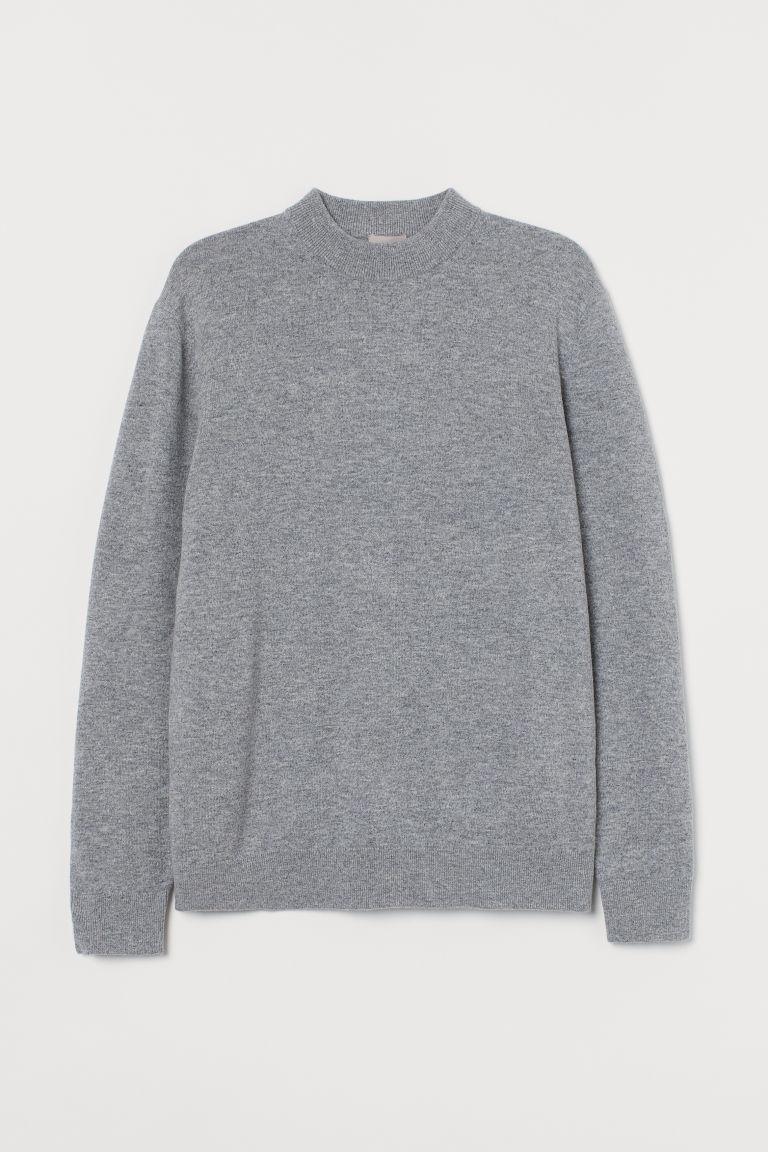 H & M - 美麗諾羊毛套衫 - 灰色