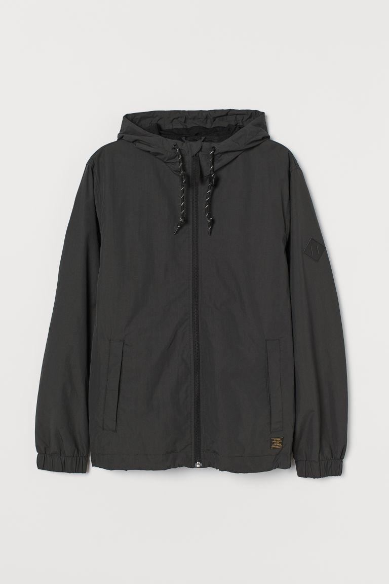 H & M - 尼龍風衣 - 灰色