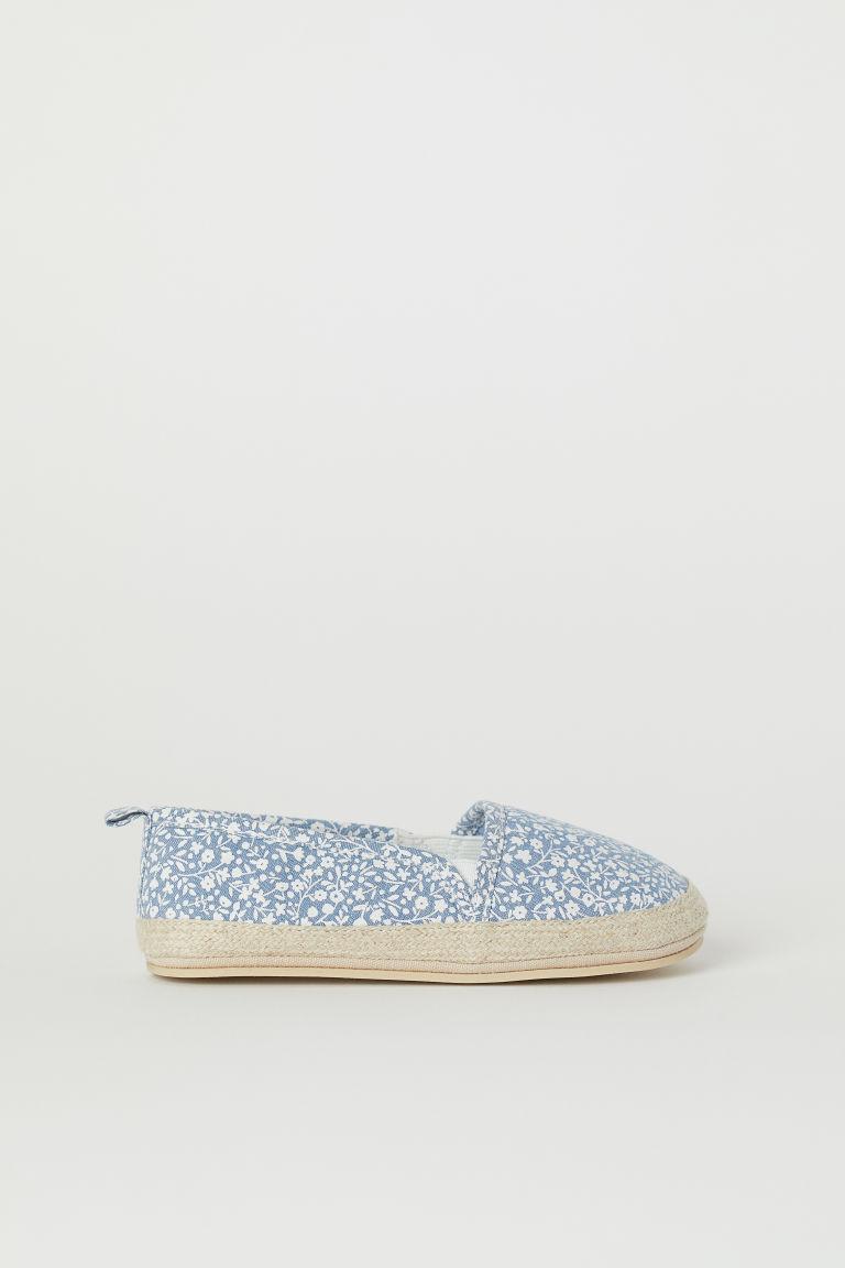 H & M - 草編鞋 - 藍色