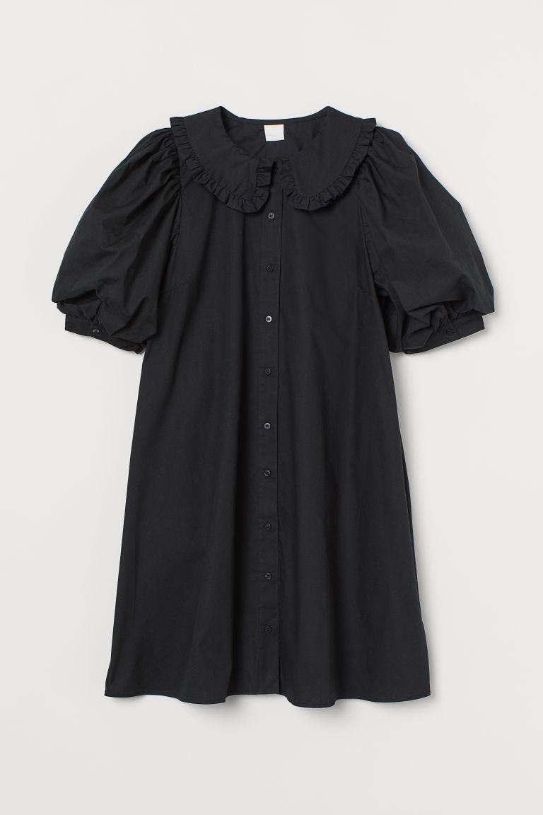 H & M - 有領洋裝 - 黑色