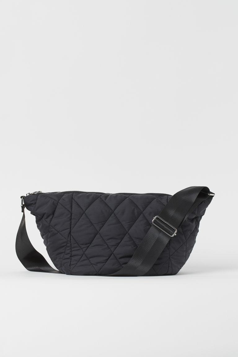 H & M - 車棉運動包 - 黑色