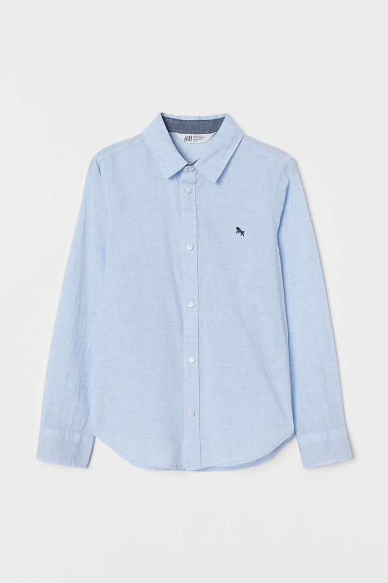 H & M - 棉質襯衫 - 藍色