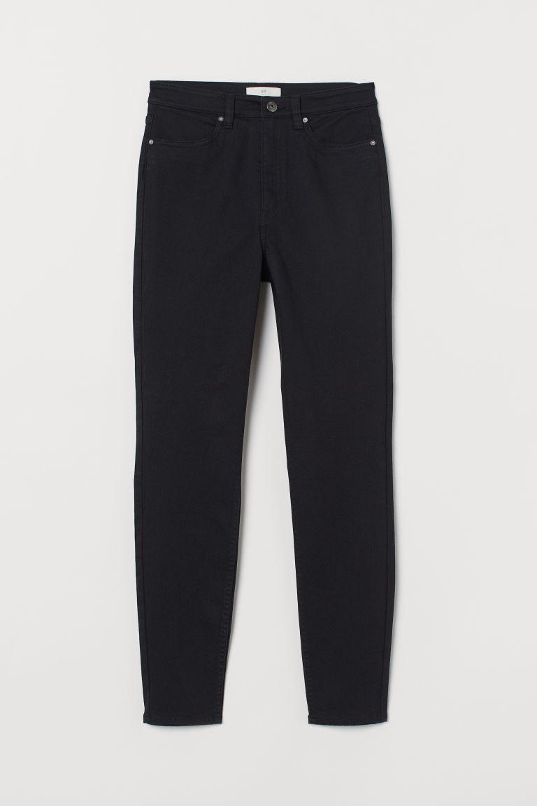 H & M - 彈性長褲 - 黑色
