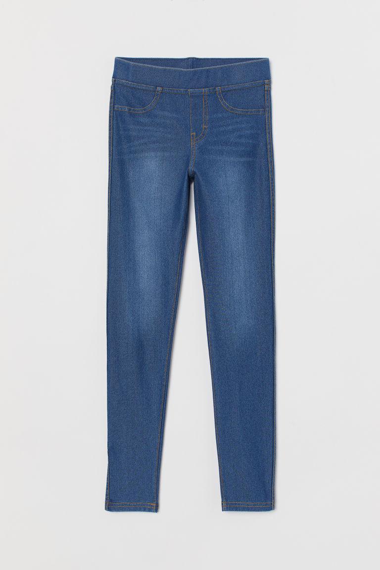 H & M - 緊身褲 - 藍色