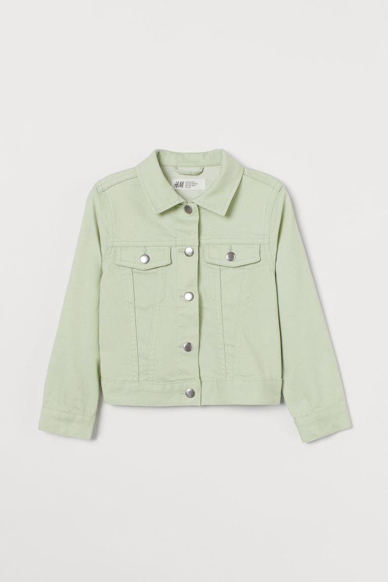H & M - 斜紋外套 - 綠色