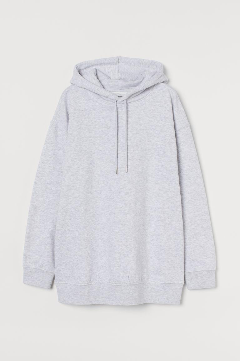 H & M - MAMA 連帽上衣 - 灰色