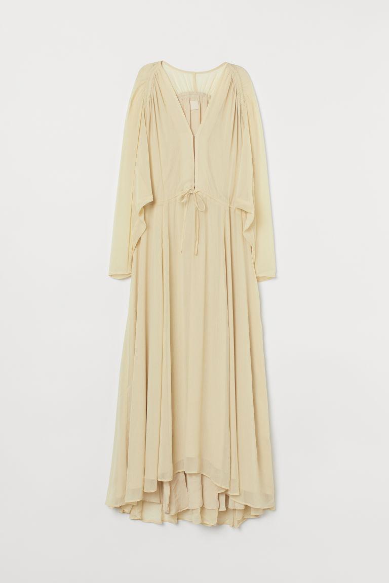 H & M - 雪紡長洋裝 - 黃色