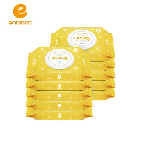 韓國ENBLANC 濕式衛生紙-兒童學習專用有蓋46抽/10包