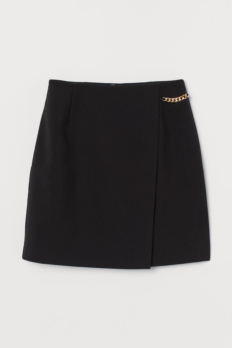 H & M - 短裙 - 黑色