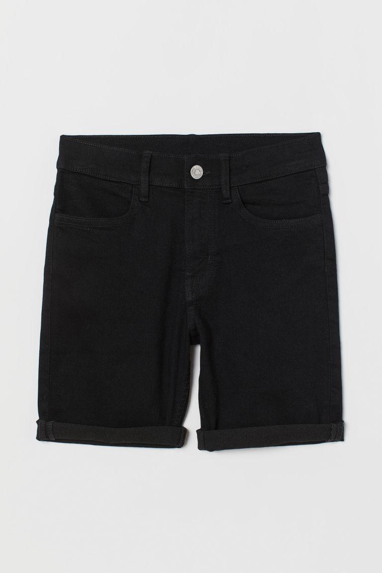 H & M - 貼身丹寧短褲 - 黑色