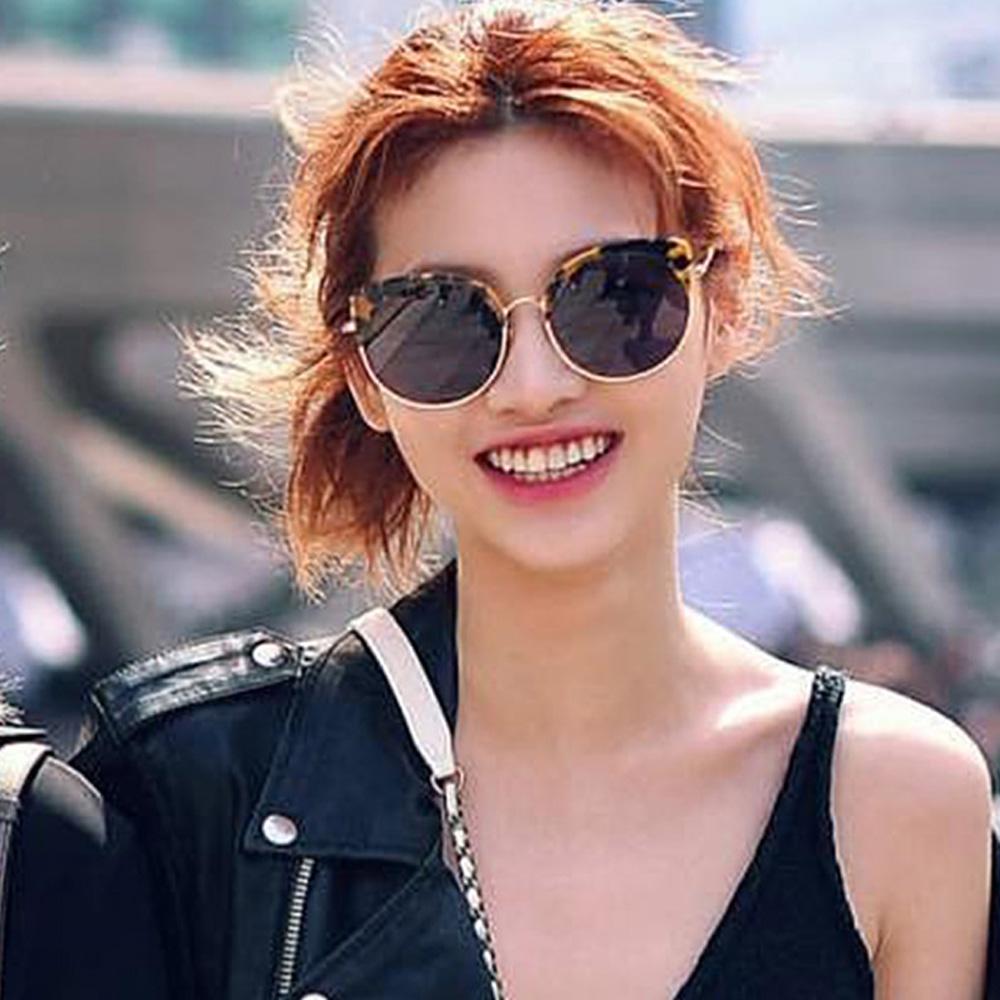 STEPHANE + CHRISTIAN 韓國輕奢墨鏡  超模Ijeong Ho Yeon配戴 時尚豹紋貓眼半框款
