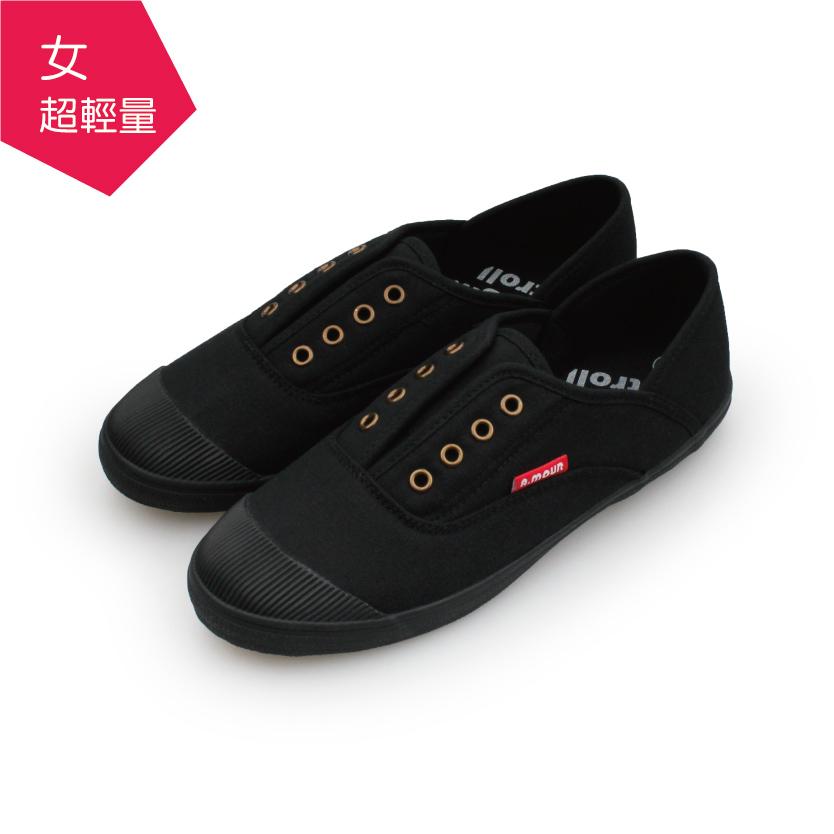 【A.MOUR 經典手工鞋】早餐輕履系列 - 芝麻黑(6771)