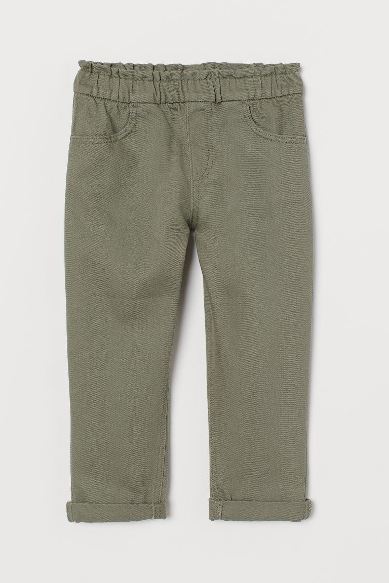 H & M - 寬鬆慢跑褲 - 綠色