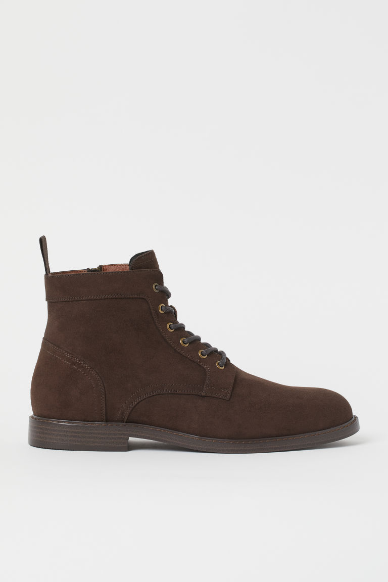 H & M - 側拉鍊靴 - 褐色