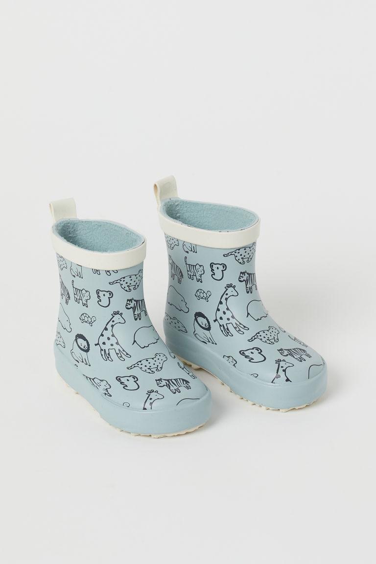 H & M - 圖案威靈頓雨靴 - 綠色