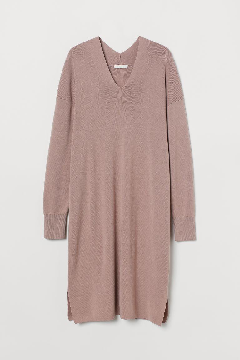 H & M - 精織洋裝 - 粉紅色