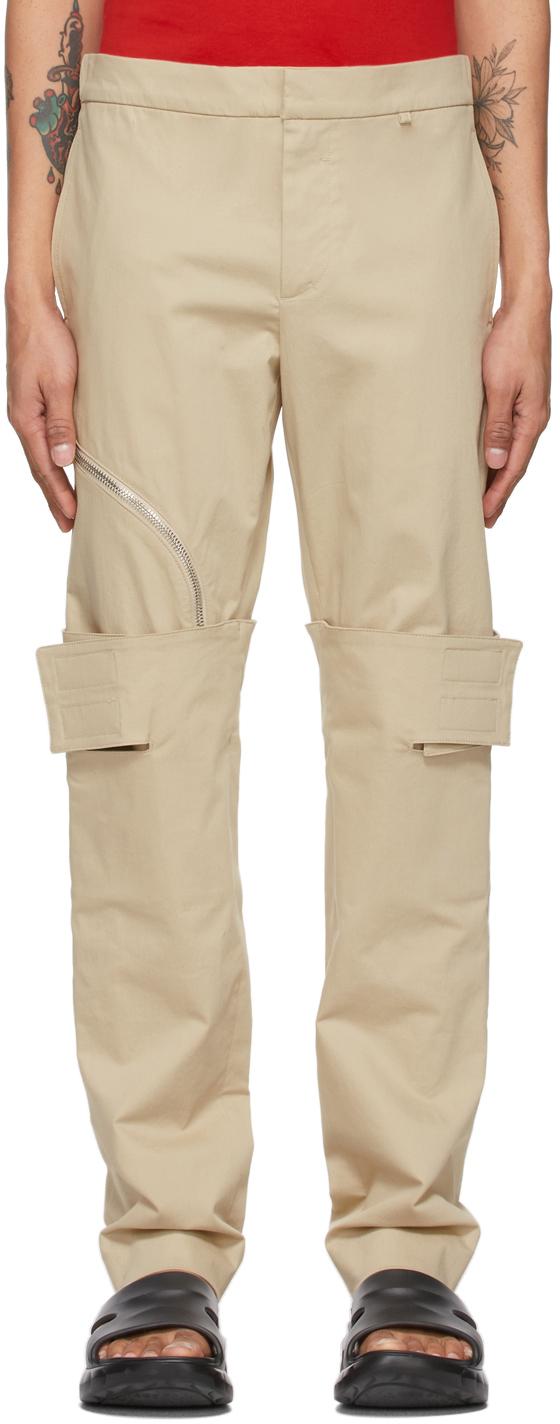 Givenchy 驼色叠层长裤