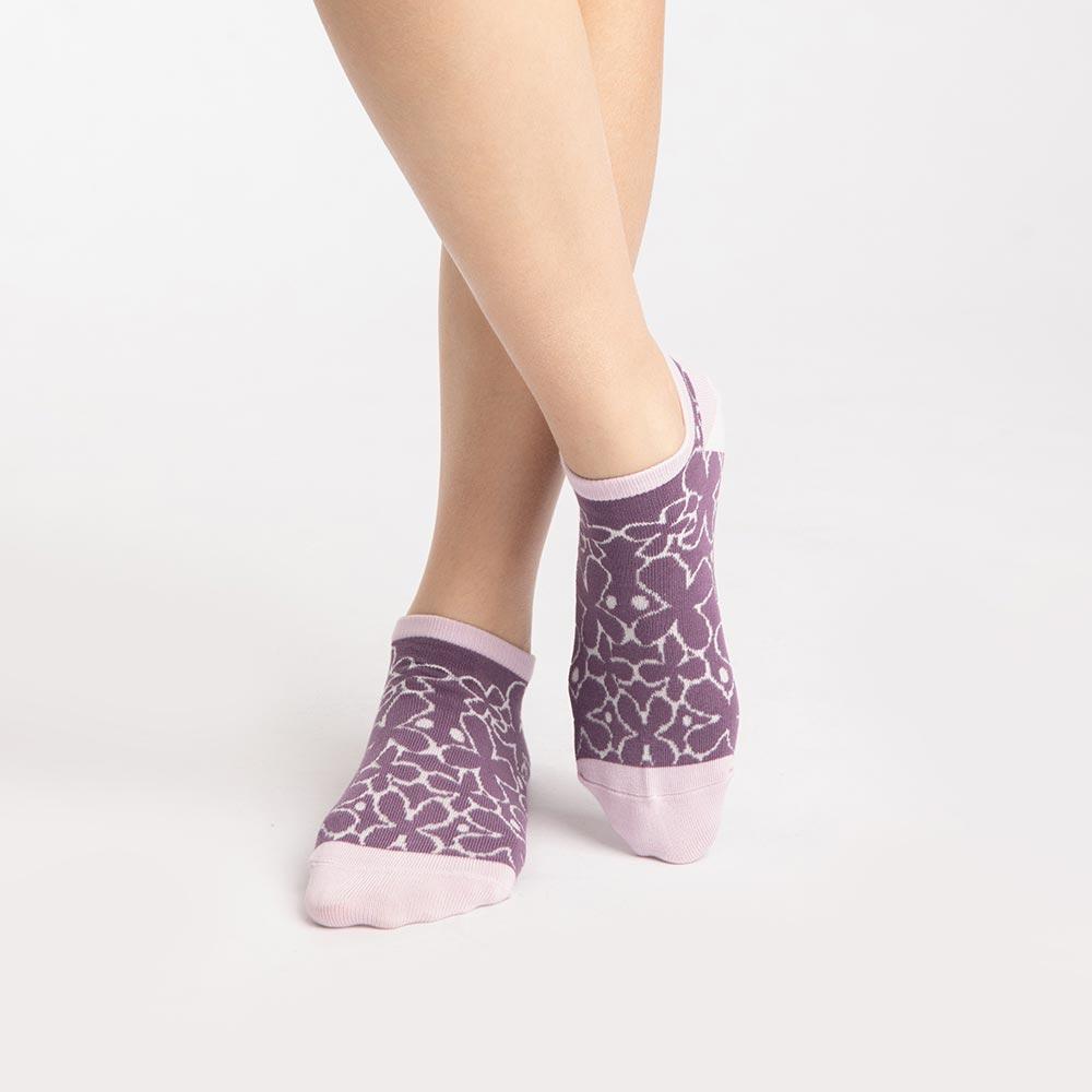 【M號】幸花村淑女船型襪-紫 (商品編號:S0519671M)