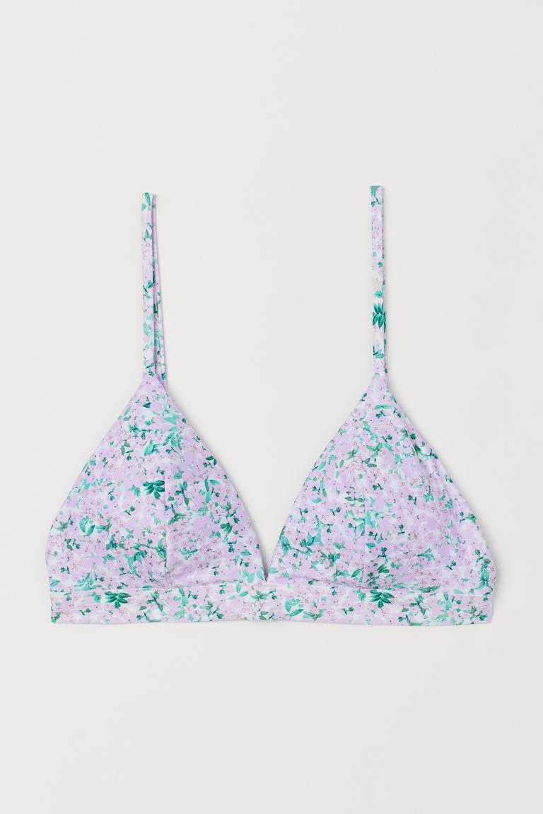 H & M - 加墊三角比基尼上衣 - 紫色