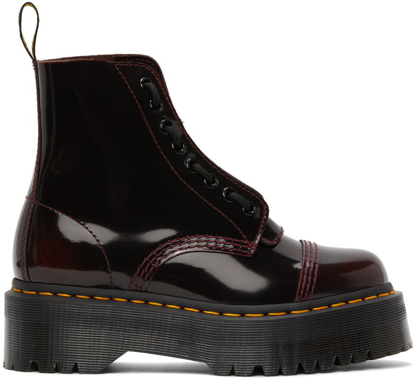 Dr. Martens 酒红色 Sinclair Quad Retro 踝靴